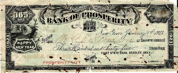 First State Bank Prosperity Certificate