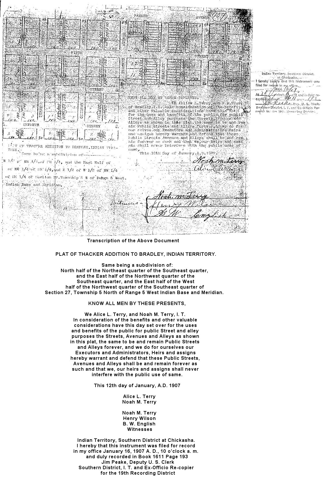 First Survey 1907